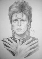 David Bowie by trixy-bernadotte