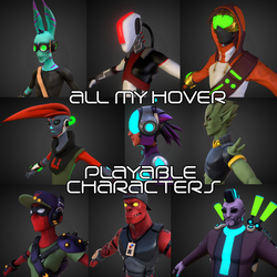 Hover - all my playable characters by Ked-V