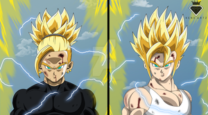 ssj 2 Turlo vs ssj 2 Bullus by KingKenoArtz