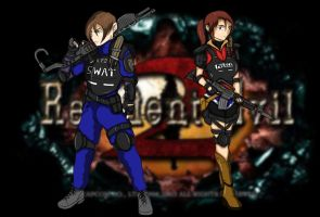 Leon and Claire by DarkNazawrath