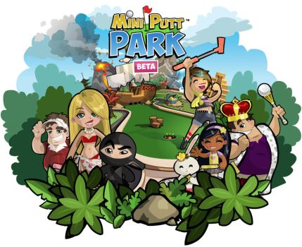 Mini Putt Park Splash/Loading Screen by Katie-O
