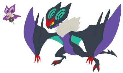 Noibat and Noivern Base by SelenaEde