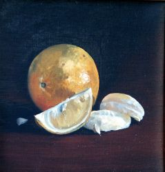 Oranges Still life 8.5x8.5 by WilliamArmstrongArt