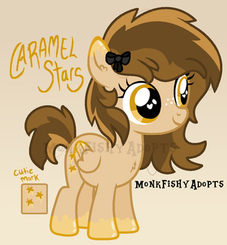 Caramel Stars - Pony Offer To Adopt - SOLD by MonkFishyAdopts