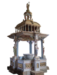 Baptismal Font - Cut Out Photo by HermitCrabStock