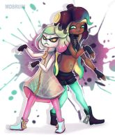 Splatoon - Pearl and Marina by mdbruin