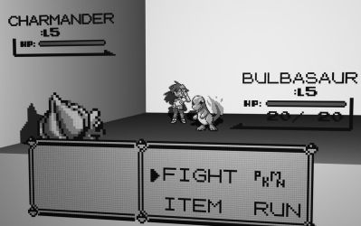 Pokemon Battle by 8-bit-Anon