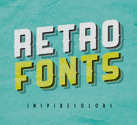 Retro Fonts by Inspirecolors