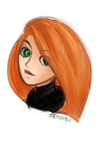 Kim Possible (quick sketch) by MJDAlleria