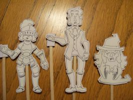 D and D Stick Puppets by LaundryPile