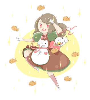 Bee And Puppycat And Taiyaki by kawaiiti