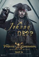 Pirates 5 Johnny Depp as Jack Sparrow Poster by Artlover67