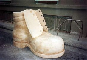 giant shoe by Theatricalarts