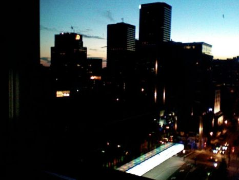 Montreal as night falls... by Mulindee