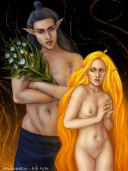Melkor and Arien by AncksiestasInh