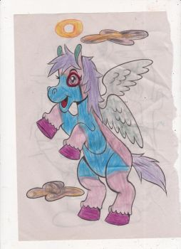 Angelic pony coloring page! by omgpeeps