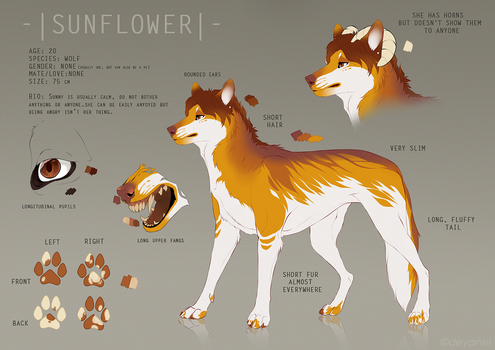 SUNFLOWER (fursona) 2016 by Deyanel