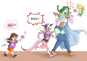 Don't come near to me!! by frieza-love