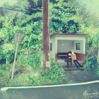 at the bus stop by 8SMiEZLY8