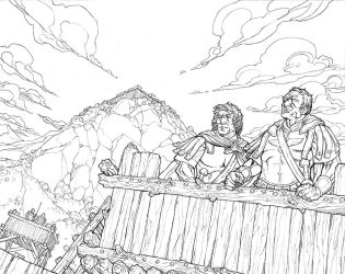 Caesar and the Battle of Alesia Cover Lines by JerMohler