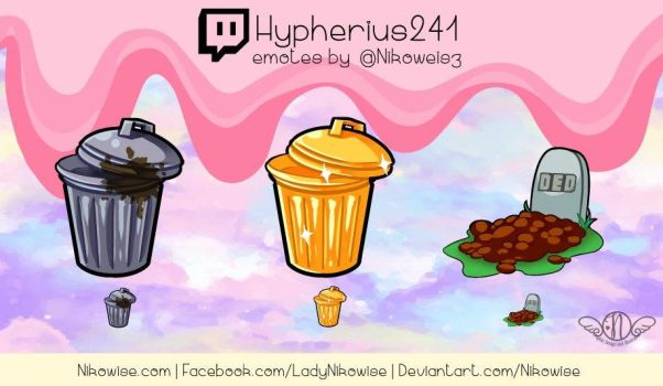 Commission- Twitch Emotes- Hypherius241 by Nikowise