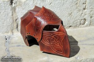 Celtic leather helmet by AtelierFantastique