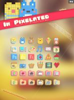 In Pixelated Icon Set by Cappippuni