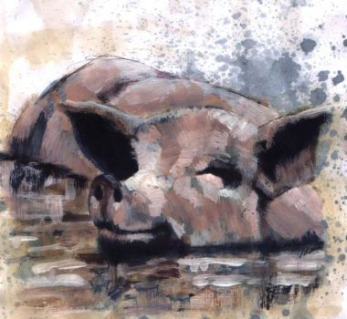 Oink oink by Life-takers-crayons