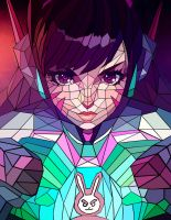 D.Va low poly portrait | Overwatch by CAraracap