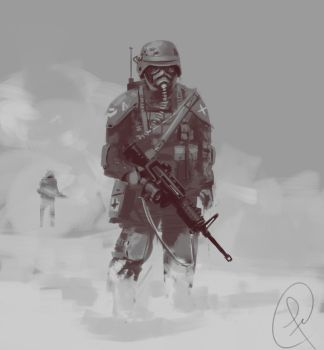 soldier doodle by Fernand0FC