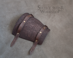 Mercenary's equipment - Leather Bracer by Svetliy-Sudar