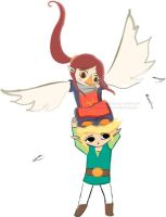 Link and Medli by emily-e by Rito-Tribe