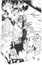 Superman - Semi - Inked by TheEndofOurLives
