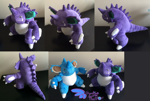 Nidoking Pokemon Plush! 13'' Arms Bend! by GuardianEarthPlush