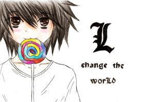 Lawliet and Lollipop  -pencil- by BeckyTheBunny