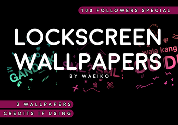 LOCKSCREEN WALLPAPER GIVEAWAY - black ver. by alottaedits