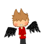 Tord with black wings by EddisAWESOME
