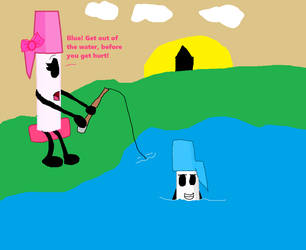 Pink Pen gone fishing by jaybirdking85