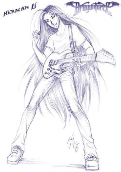 DragonForce fan-art by Niki-UK