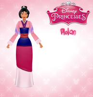 [MMD] KH/DISNEY PRINCESS - MULAN (+DL) by LunettaSolari