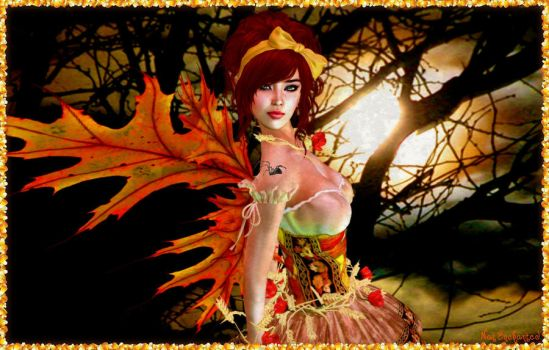 Faerie of Fall by pinkpantherr