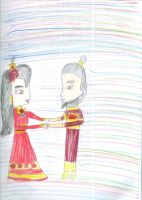 Iroh with his wife Kimana by Kelseyalicia