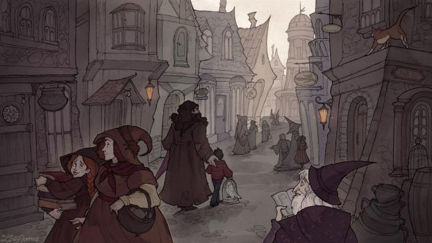 Diagon Alley by IrenHorrors