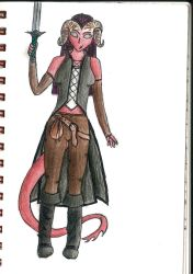 DD: Teifling: Akari by Echos-in-the-Shadows
