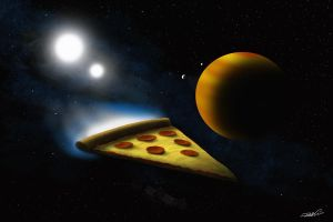 Space Pizza by RobtheDoodler