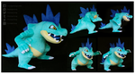 Shiny Feraligatr custom plush by Nazegoreng