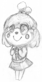 Isabelle Sketch by charliechip95