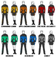 Class A Uniforms Star Trek: The New Voyages RPG by ZenithComics