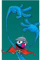 Super Grover by mattcandraw