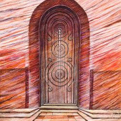 Red - Wood Grain by zachlost
